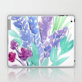 Lavender Floral Watercolor Bouquet Laptop & iPad Skin