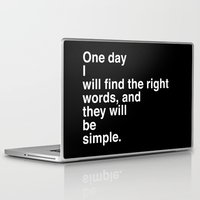 "kerouac Laptop & iPad Skins featuring Jack Kerouac Quote from ""On The Road"": They Will Be Simple by Pewter + Twine"