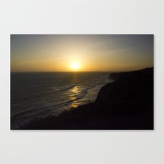 Cliff Top Sunset Canvas Print