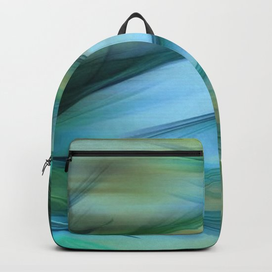 Soft Feathered Lights Abstract Backpack