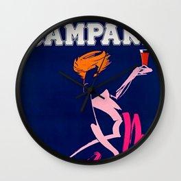 Vintage 1983 Bitter Campari Advertisement by Carrier Alain Wall Clock
