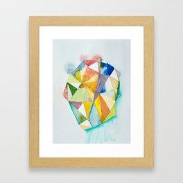 face triangle Framed Art Print