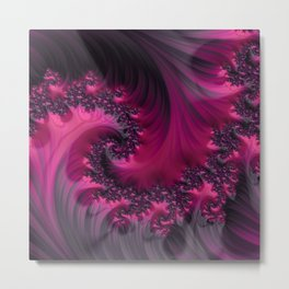 Twisting Dark Raspberry Ripple Metal Print