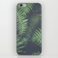 fern iPhone & iPod Skins featuring fern by elle moss