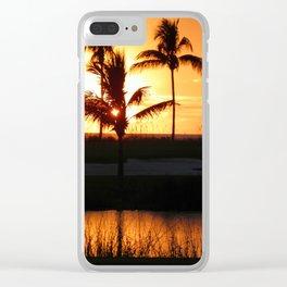Beautiful Sunset Clear iPhone Case