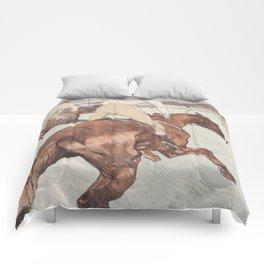 """Henri de Toulouse-Lautrec """"Le Jockey"""" Comforters"""