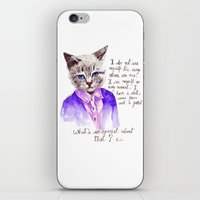 karl lagerfeld iPhone & iPod Skins featuring Fashion Mr. Cat Karl Lagerfeld and Chanel by Smog