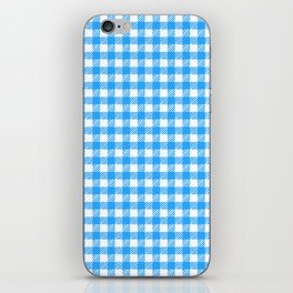 Picnic Pals gingham in blueberry iPhone Skin