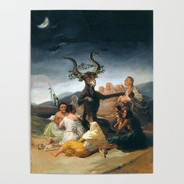 THE SABATH OF THE WITCHES - GOYA Poster