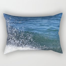 Seafoam and splashes Rectangular Pillow