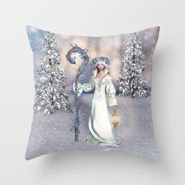Awakening Winter Throw Pillow
