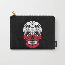 Sugar Skull with Roses and Flag of Poland Carry-All Pouch