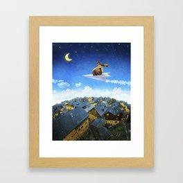 Paper Plane Pilot Framed Art Print