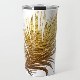 Golden Feather Travel Mug