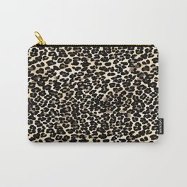 Small Brown and Black Leopard Print Carry-All Pouch
