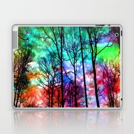 colorful abstract forest Laptop & iPad Skin