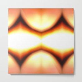Abstract Orange Glow Metal Print