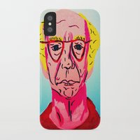 larry david iPhone & iPod Cases featuring Larry David 1 by Alyssa Underwood Contemporary Art