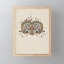 Celtic Initial M Framed Mini Art Print