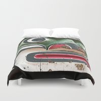 totem Duvet Covers featuring Totem by Renee Ansell