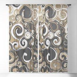 Coffee Swirls Sheer Curtain