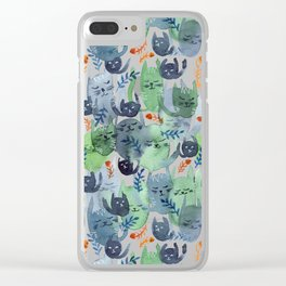 A Quiet Cacophony of Cats Clear iPhone Case