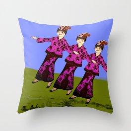 Free Spirits 3 Throw Pillow