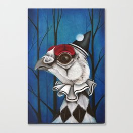 Pierrot the Ptarmigan Canvas Print