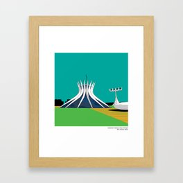 Brasilia Cathedral Niemyer Modern Architecture Framed Art Print