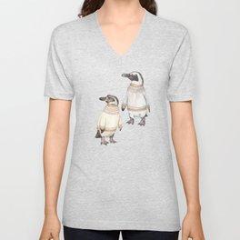 Penguins in sweaters Unisex V-Neck