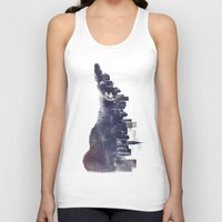 city Tank Tops featuring Fox from the City by Robert Farkas