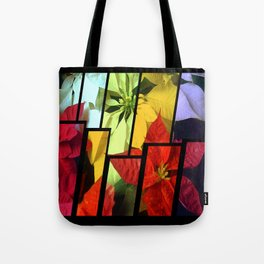 Mixed Color Poinsettias 2 Tinted 2 Tote Bag