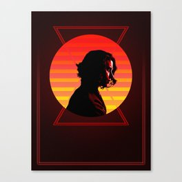 Black Widow 80's Character Poster Canvas Print