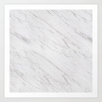 marble Art Prints featuring Marble by Grace