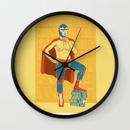 Lucha Library Wall Clock