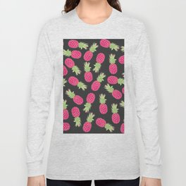 Summer Strawberry Tropical Pineapples Long Sleeve T-shirt
