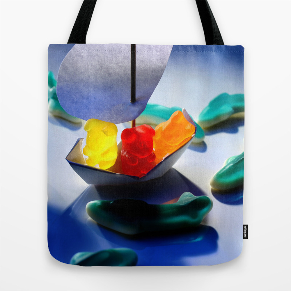 Don't Rock The Boat! Tote Bag by Artdistrictmontreal TBG9004891