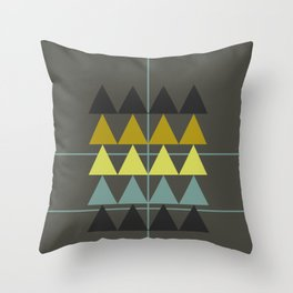 disguise forest    spring neon Throw Pillow