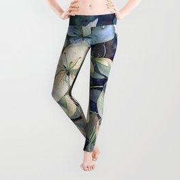 Summer hydrangea Leggings