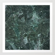 green space texture Art Print