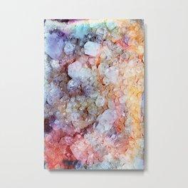 Painted Crystal Metal Print