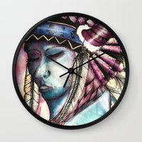 native Wall Clocks featuring Native by Siriusreno