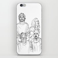 one direction iPhone & iPod Skins featuring One Direction by Cécile Pellerin
