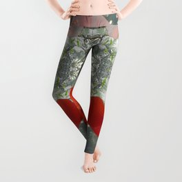 Passion for red_grey symmetry Leggings