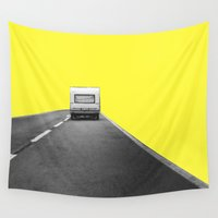 trip Wall Tapestries featuring Road Trip by Tyler Spangler