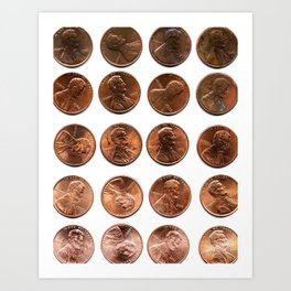 Twenty Cents (Penny Edition)  Art Print