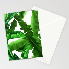 tropical banana leaves pattern Stationery Cards