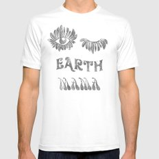 Earth mama Mens Fitted Tee SMALL White