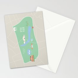 London, England, UK | Hyde Park, Kensington Gardens Map Stationery Cards