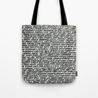 word Tote Bags featuring Word by Abstractink82
